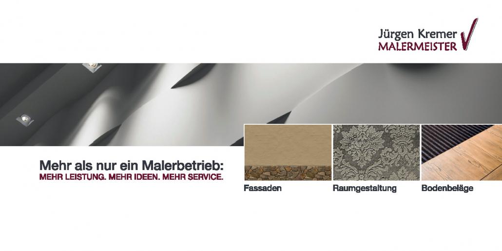 Jürgen Kremer - Malermeister: Flyer