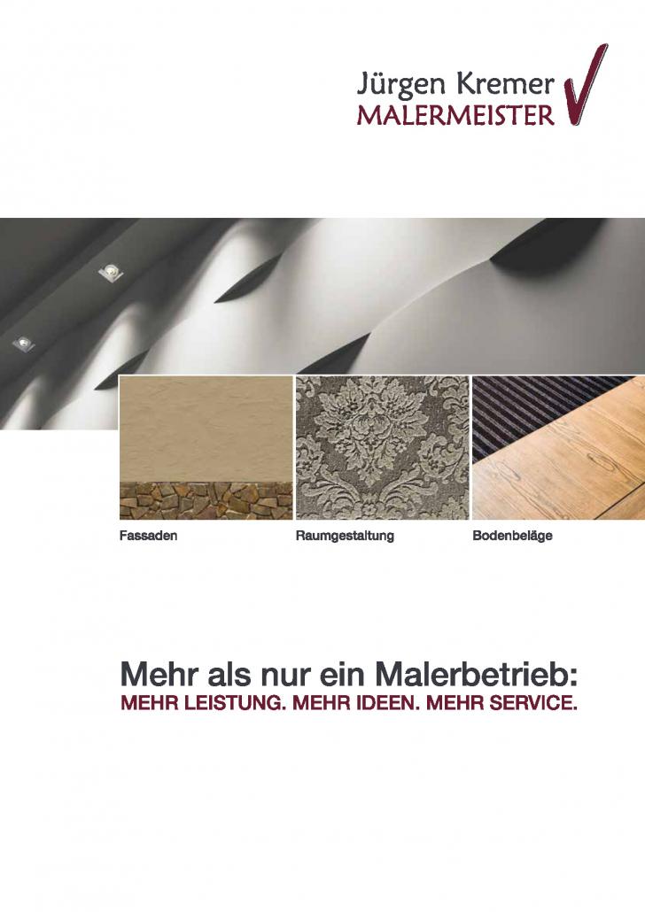 Jürgen Kremer - Malermeister: Unternehmensbroschüre